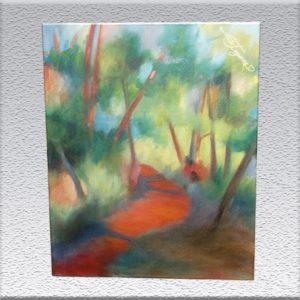 Hartwig Kolb: Weg im Park (1984) Ölgemälde, ungerahmt, 90 cm x 70 cm, 1450,- €