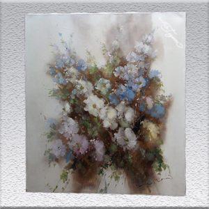 Ingfried Henze-Morro: Blumen Ölgemälde, ungerahmt, 70 cm x 60 cm, 780,- €