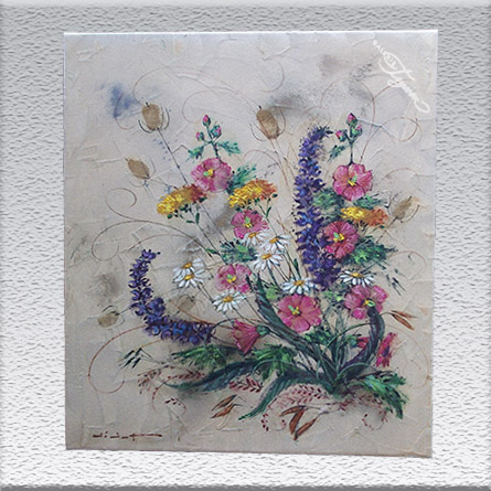 Didot: Blumen (sandiger Untergrund) ungerahmt, 70 cm x 60 cm, 880,- €