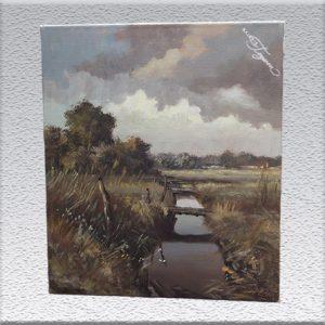 Peter Zimmermann: Im Moor (1983) Ölgemälde, ungerahmt, 60 cm x 50 cm, 650,- €