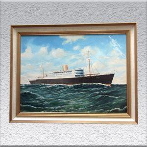 cop. Witt: Turbinenschiff Potsdam (1957) Ölgemälde, gerahmt, 60 cm x 80 cm, 490,- €