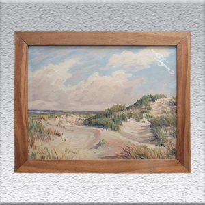 Fritz Stark: Düne (um 1965) Ölgemälde, gerahmt (mit massiver Eiche), 72 cm x 92 cm, 390,- €