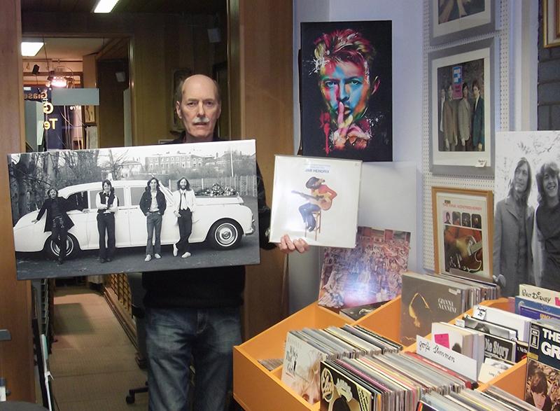Schallplatten der 70er und 80er Jahre bei der Galerie Teyssen in Bremerhaven