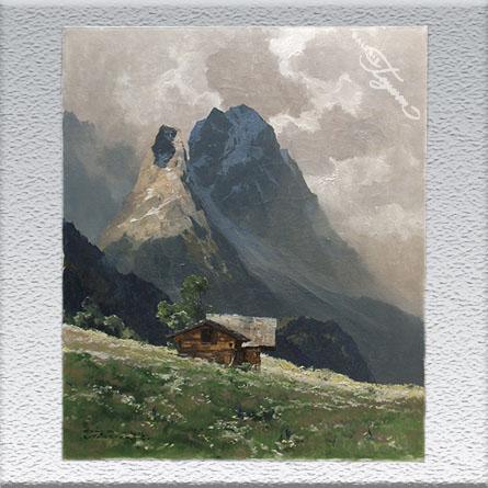 Hans Maurus / Waxenstein, Ölgemälde, ungerahmt, 80 x 65 cm 1500,- €