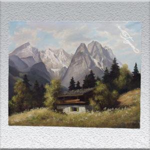 Alpspitze und Zugspitze - Max Sammet